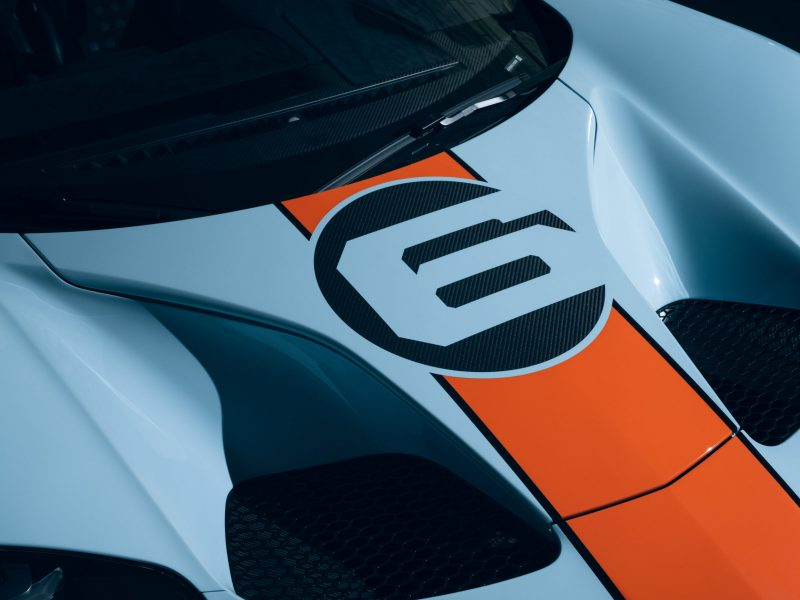 The Ford GT is improved for 2020 with increased horsepower and upgraded engine cooling. Restyled Gulf Racing heritage livery pays homage to Ford's 1969 Le Mans win; plus, supercar's carbon fiber wheels are now available for the first time with heritage livery.